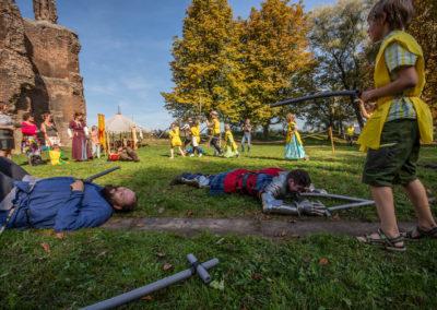Heeren van Altena - Kiddy Battle -  Archeologiedag bij Huis te Merwede (13 okt 2018)
